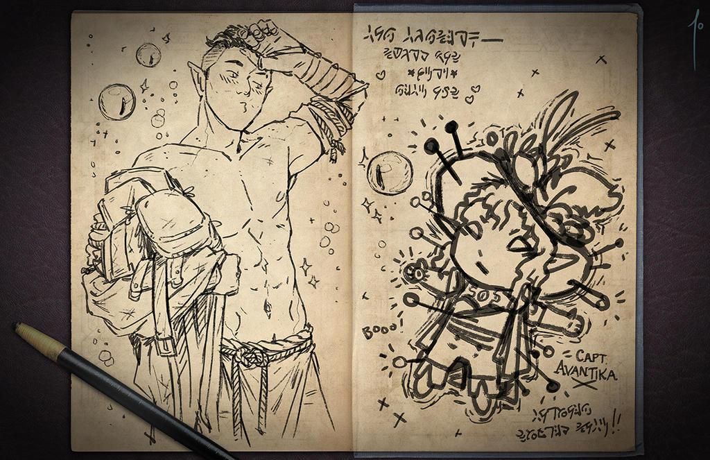 Jester's Sketchbook - spread 40 by JoannaJohnen