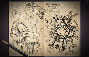 Jester's Sketchbook - spread 40 by JoannaJohnen