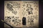 Jester's Sketchbook - spread 42 by JoannaJohnen