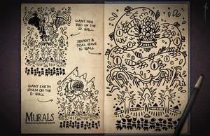 Jester's Sketchbook - spread 44 by JoannaJohnen
