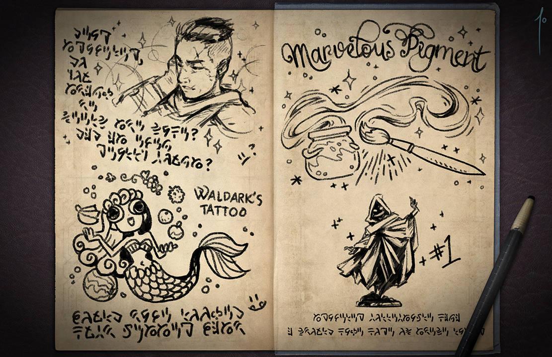 Jester's Sketchbook - spread 45 by JoannaJohnen