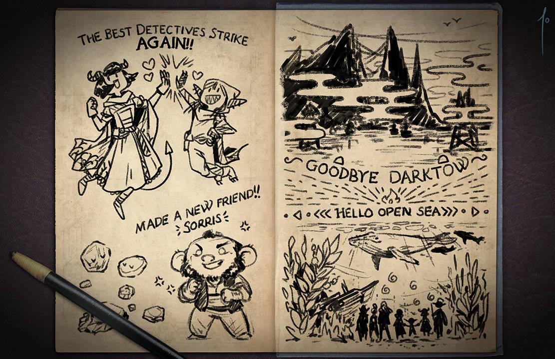 Jester's Sketchbook - spread 46 by JoannaJohnen