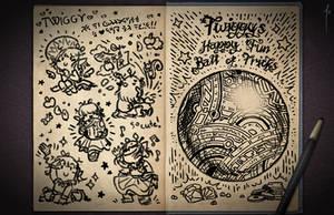 Jester's Sketchbook - spread 48 by JoannaJohnen