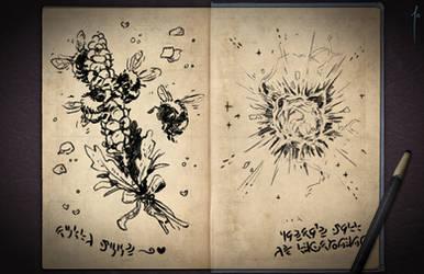 Jester's Sketchbook - spread 49 by JoannaJohnen