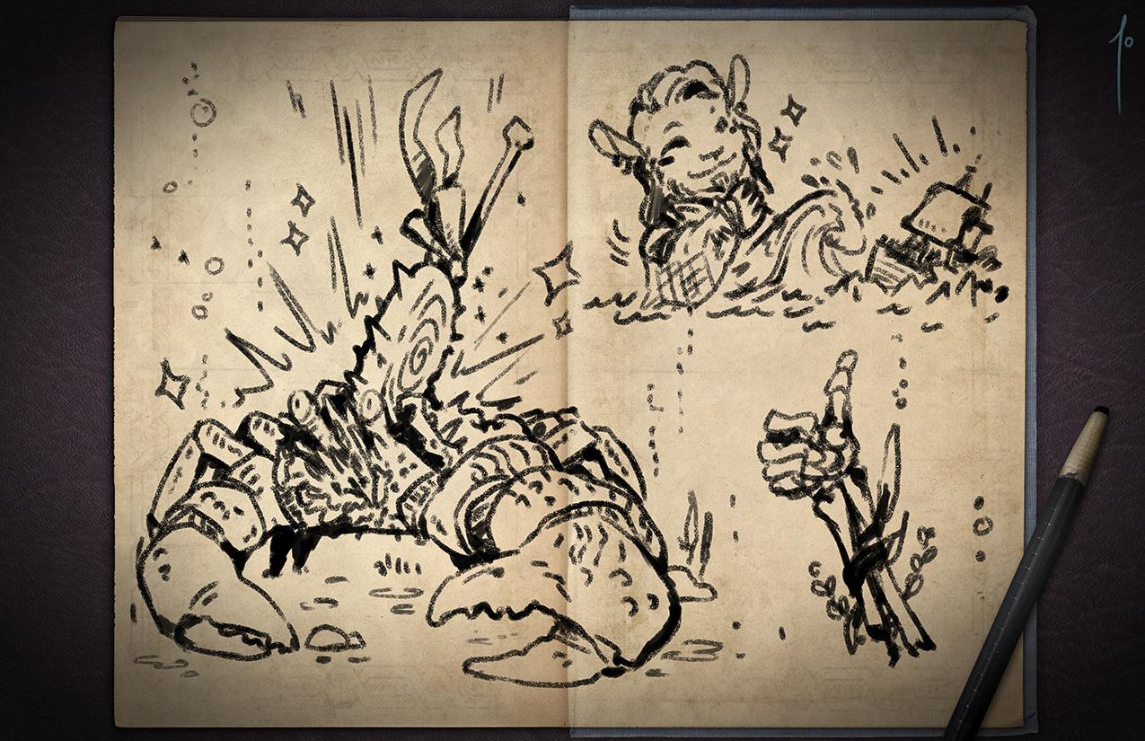 Jester's Sketchbook - spread 50 by JoannaJohnen