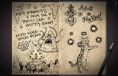 Jester's Sketchbook - spread 53 by JoannaJohnen