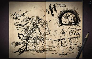 Jester's Sketchbook - spread 54 by JoannaJohnen
