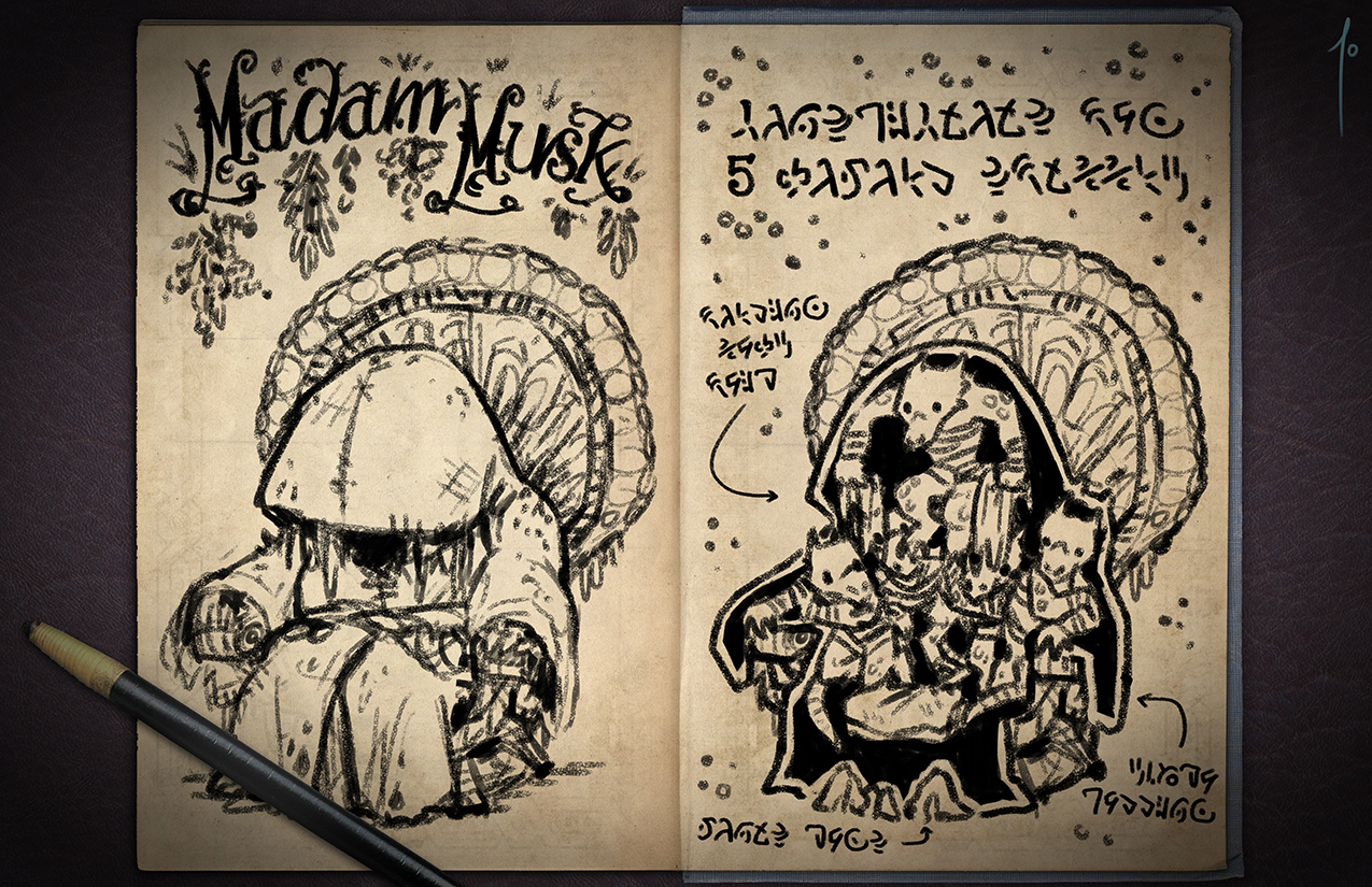 Jester's Sketchbook - spread 57 by JoannaJohnen