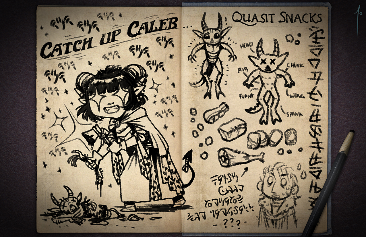 Jester's Sketchbook - spread 59 by JoannaJohnen