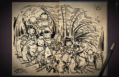 Jester's Sketchbook - spread 61 by JoannaJohnen