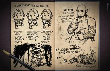 Jester's Sketchbook - spread 63 by JoannaJohnen