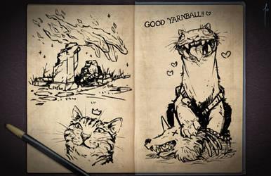 Jester's Sketchbook - spread 64 by JoannaJohnen