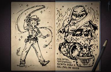 Jester's Sketchbook - spread 74