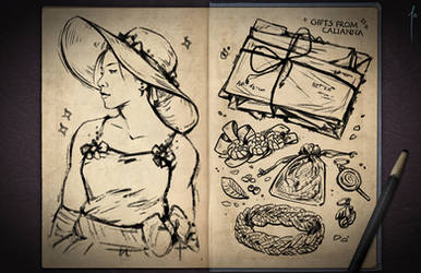 Jester's Sketchbook - spread 76