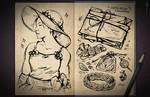 Jester's Sketchbook - spread 76