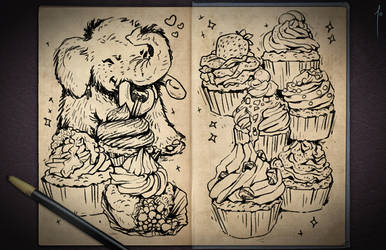 Jester's Sketchbook - spread 78