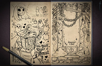 Jester's Sketchbook - spread 77