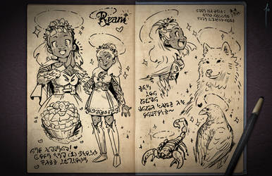 Jester's Sketchbook - spread 79