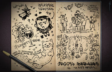 Jester's Sketchbook - spread 83