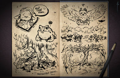 Jester's Sketchbook - spread 84