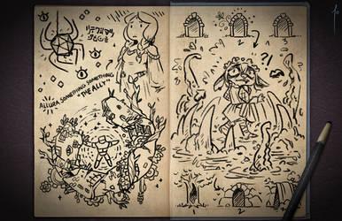 Jester's Sketchbook - spread 85
