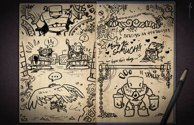 Jester's Sketchbook - spread 86