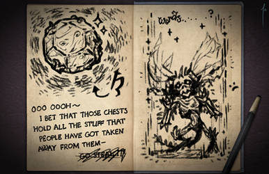 Jester's Sketchbook - spread 89