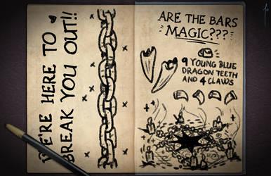 Jester's Sketchbook - spread 90