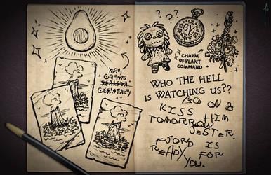 Jester's Sketchbook - spread 108