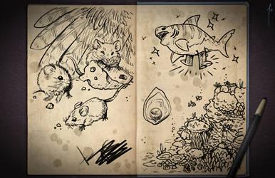 Jester's Sketchbook - spread 110