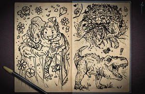 Jester's Sketchbook - spread 109