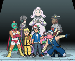 XYZ Ash's Team by ToonStarterz