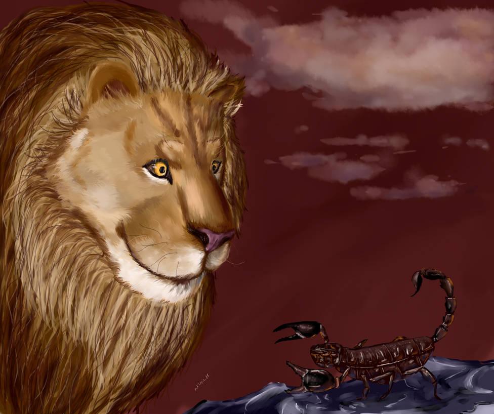 Lion And Scorpion By Kir4ik88 On Deviantart