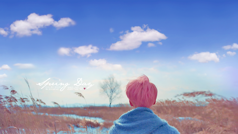 Spring day: Jimin Wallpaper by Elfa-dei-boschi