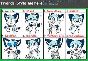 Friend Style Meme!! by Rainy-bleu