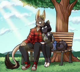 [Commission] Park bench by Rainy-bleu