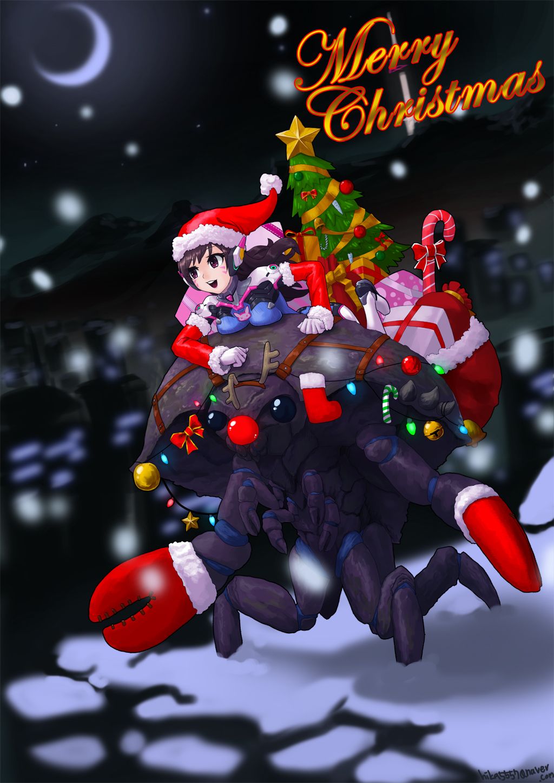 D va christmas by ta bam on deviantart - Overwatch christmas wallpaper ...