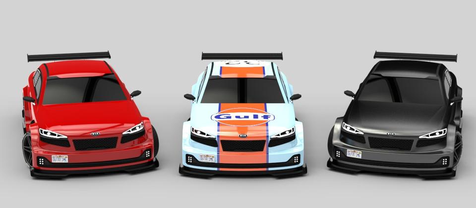 KIA GTX - Gulf Racing edition. by MustafaAsan