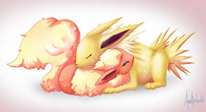 Art Trade: Jolteon x Flareon by A-R-T-3-M-I-S