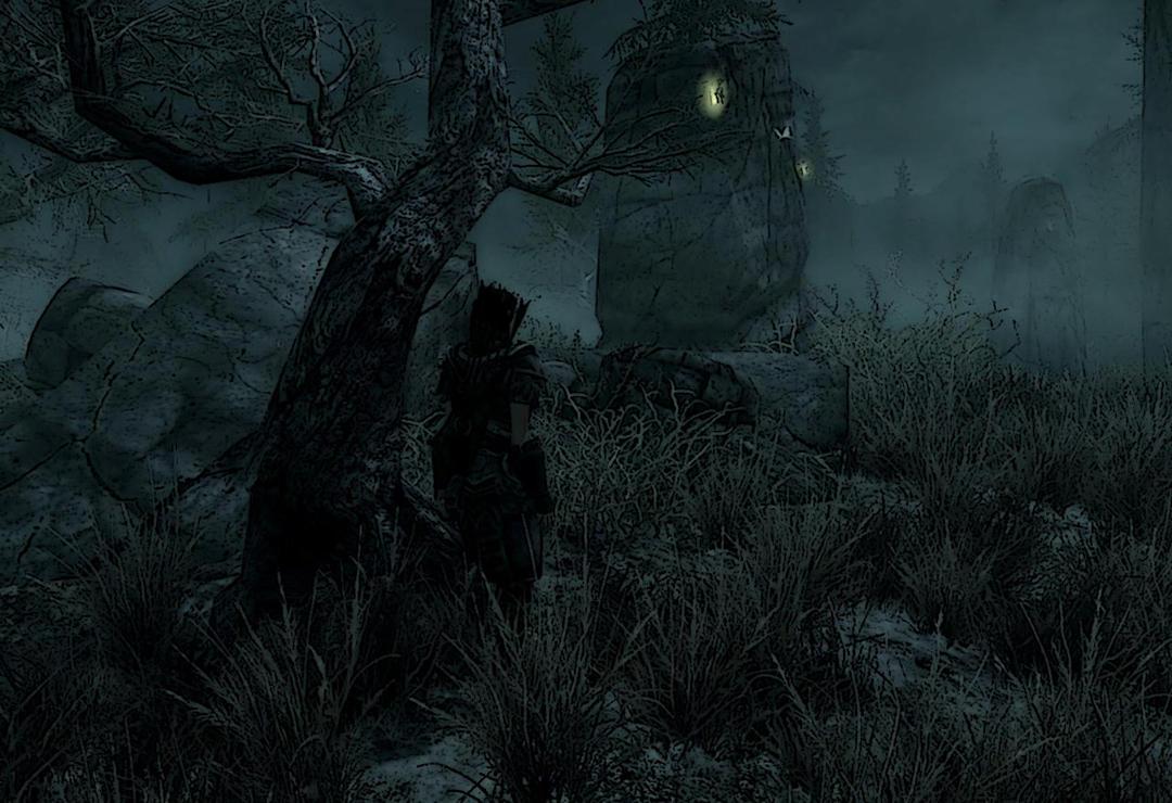 TES Skyrim Solitude's swamp by Sicilium