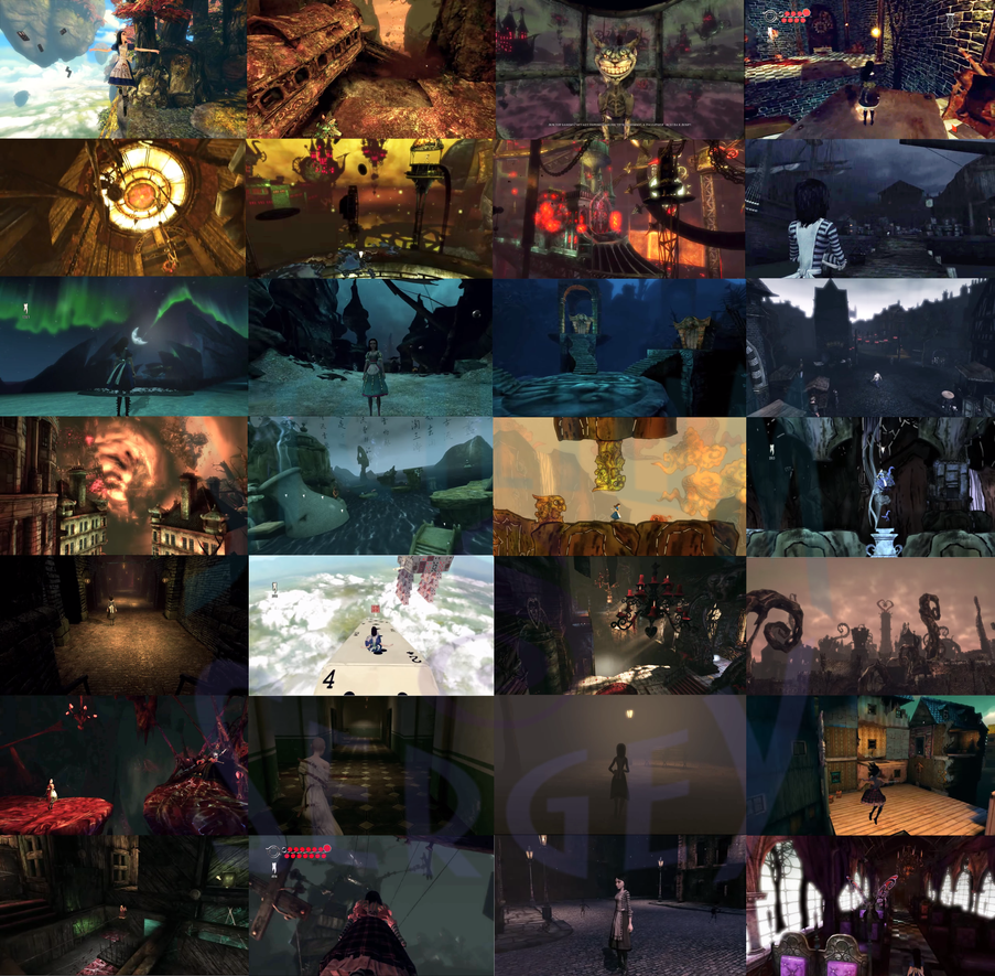 Alice Madness Returns All Level's collage by Sicilium