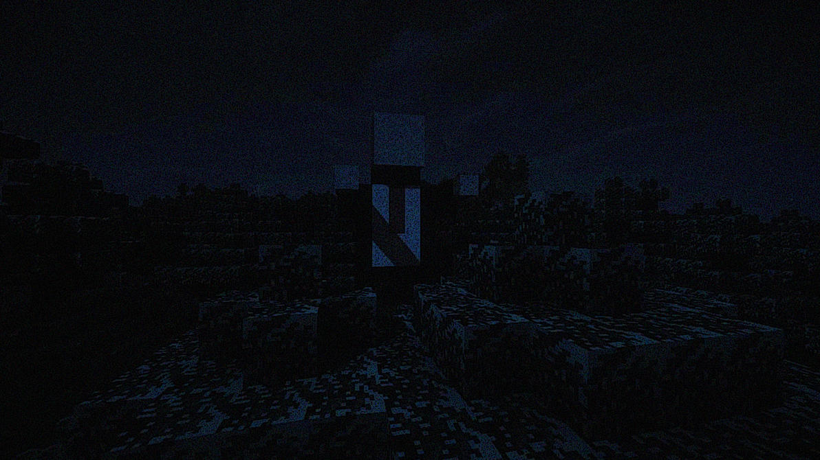 Minecraft Slender night WP by Sicilium