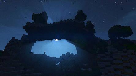 Minecraft - Arch in nightspace 15/4/2016