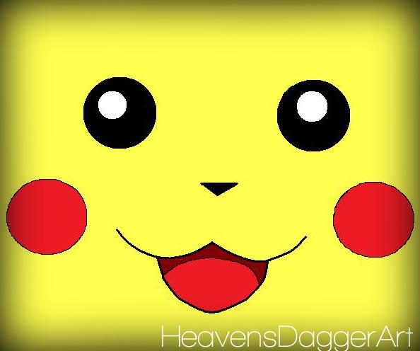 Pikachu Face Wallpaper Pikachu face byPikachu Face Wallpaper