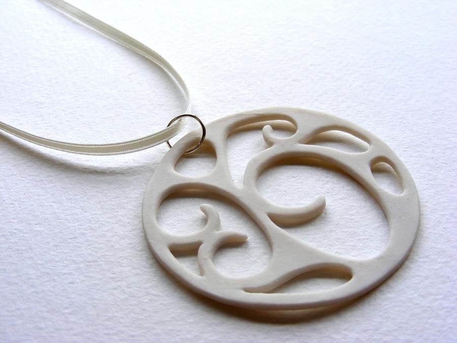 Coalesco Ceramic Pendant by Itherin