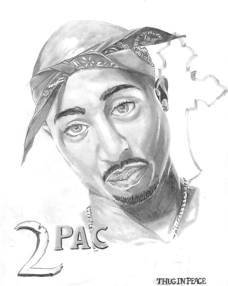 The Gallery For --> Drawing Of Tupac