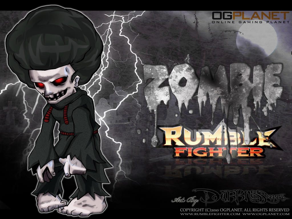 zombie rumble fighter poster by darkness1999th on deviantart