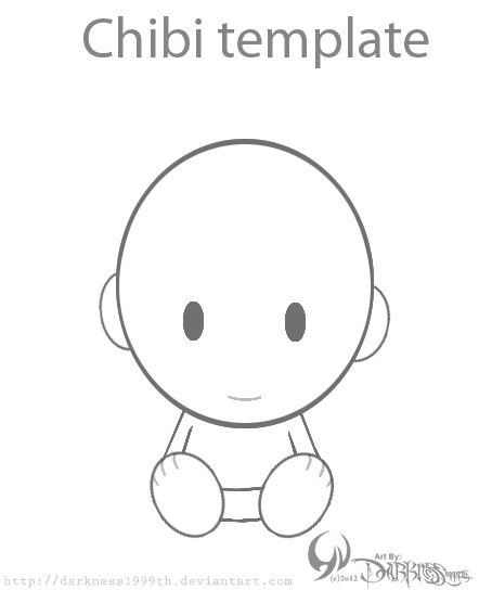 Chibi Template By DarknessTh On Deviantart