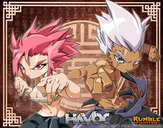 Rumble Fighter :Promotional Scroll Havoc by Darkness1999th