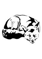 sleeping fox t-shirt design by Jankycc